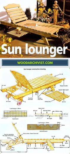 DIY Sun Lounger - Outdoor Plans and Projects | WoodArchivist.com