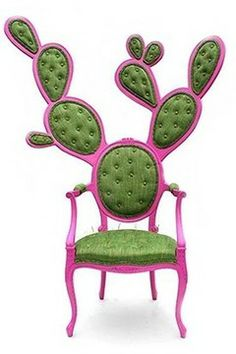 """""""Prickly pair chair"""" by Mexican designer Valentina Gonzalez.  Source: http://www.inspirebohemia.com/2010/06/cactus-furniture.html"""