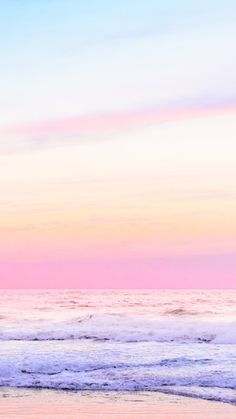 Pink skies with an beach view