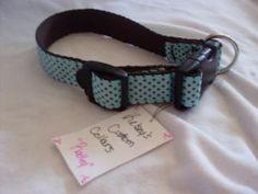 The Radley collar. Custom sizes. Love this blue!