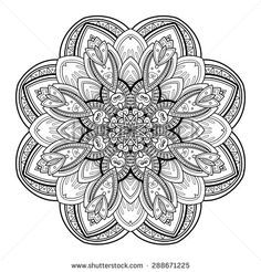 Zentangle Flowers Stock Photos, Images, & Pictures | Shutterstock