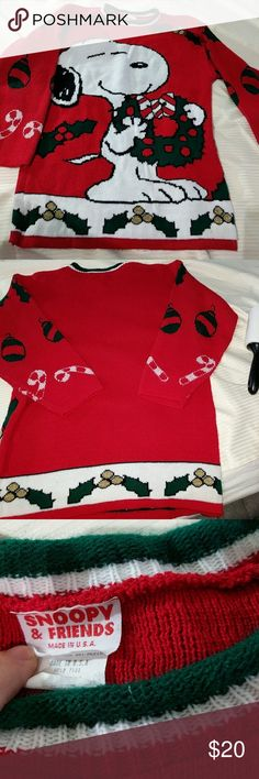 Christmas Snoopy Sweater Christmas suit Snoopy sweater the said small but it looks like a large Snoopy and Friends Sweaters Cowl & Turtlenecks Christmas Snoopy, Christmas Suit, Christmas Sweaters, Snoopy Sweater, Turtlenecks, Cowl, Men Sweater, Suits, Friends