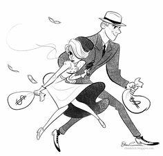 Els-A-Sketch: Bonnie and Clyde