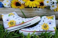 Etsy Shanny's Shoes high top converse / sorority / custom painted shoes