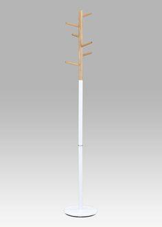 83713-10A WT Věšák 180cm, bílá/natural
