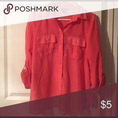 Button up blouse Salmon color Rue 21 Tops Blouses