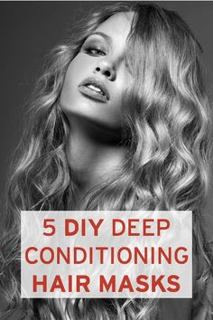 5 easy DIY deep-conditioning hair masks--they seriously revitalize hair & use only natural ingredients from your kitchen!