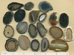 Polished Brazilian Agate Slabs lot