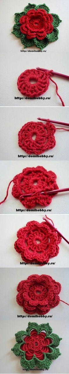 Watch The Video Splendid Crochet a Puff Flower Ideas. Phenomenal Crochet a Puff Flower Ideas. Crochet Diy, Beau Crochet, Crochet Motifs, Crochet Flower Patterns, Crochet Squares, Love Crochet, Irish Crochet, Beautiful Crochet, Crochet Crafts