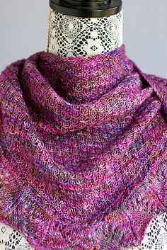 Demalangeni Shawl By Wendy Neal - Free Knitted Pattern - (ravelry)