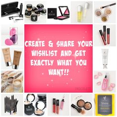 Get exactly what you want this year for your birthday, Mother's Day, Graduation, Prom, etc. Create a Younique wishlist today! Younique, Lashes, Encouragement, Cosmetics, Create, Makeup, Graduation, Prom, Birthday