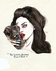 Lana Del Rey #LDR #art by Lucas David
