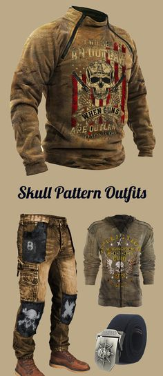 Tactical Wear, Tactical Clothing, Skull Fashion, Cosplay Outfits, Outdoor Outfit, Retro Outfits, Mens Clothing Styles, Hoodies, Sweatshirts