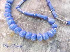 70s Beautiful Designed HandMarbled Blue by PegsVintageJewellery, $12.00