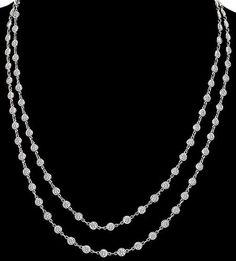 7.45ct Diamond By The Yard Necklace