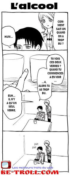 Shingeki no Kyojin (ou Attack on titan) Comment sait-on quand on a trop bu ?