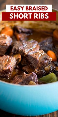 Braised short ribs are the perfect dinner to impress for special occasions.