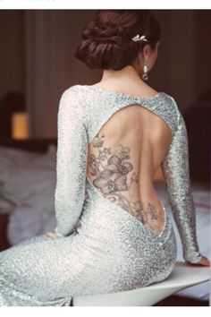 Beautiful bride with a beautiful tattoo! #bride #bridal #tattoos