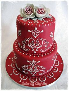 Wedding Cakes - Contact Hyderabad Cupcakes to order! Gorgeous Cakes, Pretty Cakes, Amazing Cakes, Fancy Cakes, Mini Cakes, Cupcake Cakes, Shoe Cakes, Cake Fondant, Indian Wedding Cakes