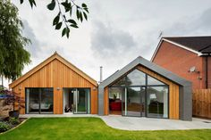 Greenheart undertook the detailed design and construction of this contemporary retirement home - a single storey building with level access, lots of light, low energy and easy to use and maintain. Eco Homes, Roof Design, New Builds, Pitch, Retirement, Shed, Construction, Outdoor Structures, Cabin