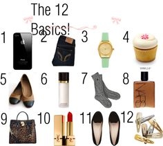 """The 12 Basics"" by karmalovely ❤ liked on Polyvore"