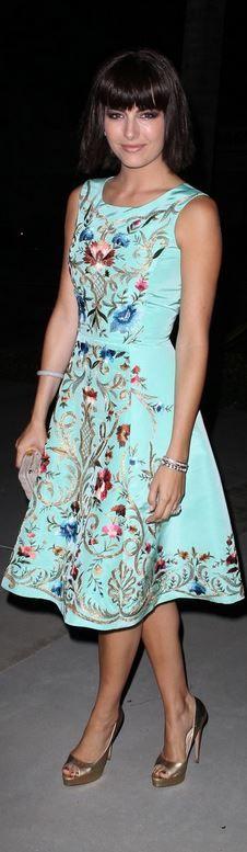 Camilla Belle: Dress – Oscar de la Renta  Jewelry – Van Cleef & Arpels