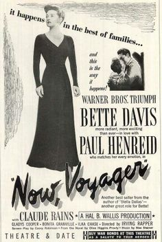 NOW VOYAGER is my favorite Bette Davis movie.