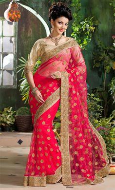Alluring Electric Pink Saree