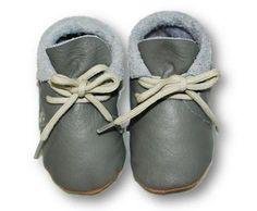 mokasynki SZARE Leather Baby Shoes Moccassins Grey https://fiorino.eu/