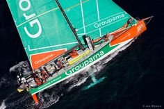 SOUTH AFRICA. 11th December 2011. Volvo Ocean Race. Start of Leg 2, Cape Town to Abu Dhabi. Groupama Sailing Team.