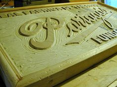 partagas factory sign carvings image