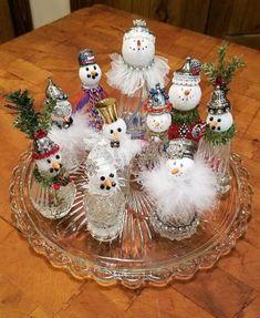 46 best salt shakers images on Christmas Love, Homemade Christmas, Christmas Snowman, Vintage Christmas, Christmas Holidays, Christmas Decorations, Christmas Ornaments, Snowman Decorations, Snowman Crafts
