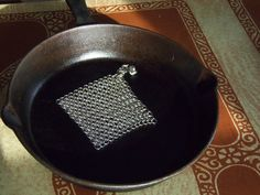 Stainless Steel Chainmaille Pot Scrubber for Cast Iron Cookware