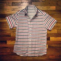 2014 GQ x Northern Grade   Stock Manufacturing Company — reversible short-sleeve shirt Gq, Sleeve, Shirt, Mens Tops, Design, Fashion, Manga, Moda, Fashion Styles