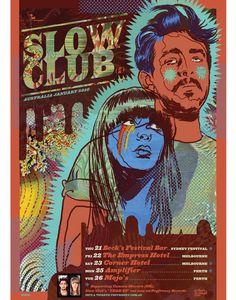 Slow Club  Tour Poster