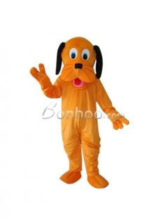 Orange Dog Plush Adult Mascot Costume