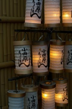 Odawara Chochin, Japanese Paper Lanterns
