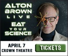 Alton Brown is coming to the Crown Complex April 7th right here in Fayetteville, NC and thanks to the Crown I have 2 tickets just for YOU!