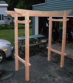lumber wedding arch