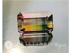 Bicolor Watermelon Tourmaline Emerald Cut Fine Gemstone for Pendant 19.22cts #Bead #bicolor #bicolor_fine_tourmaline