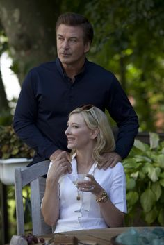 Cate Blanchett and Alec Baldwin in 'Blue Jasmine,' directed by Woody Allen. Blanchett plays a wife whose husband (Baldwin) defrauds his clients and commits suicide while in jail.