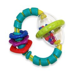 Bright Starts Grab & Spin Aqua/multi - Baby can explore and develop fine motor skills while playing with this colorful rattle toy. Teething relief and rattling fun make this one of baby's favorites. Toddler Toys, Baby Toys, Baby Baby, Teething Relief, Toy R, Baby Teethers, Baby Rattle, Baby Games, Book Gifts