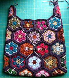 Ravelry: Project Gallery for African Flower Shoulder Bag - Crochet Pattern pattern by JOs Crocheteria