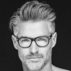 BART Und Brille, Herren Frisuren Für Ältere Männer Frisuren