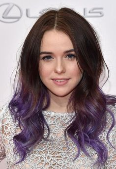 Ashy purple ombre hair