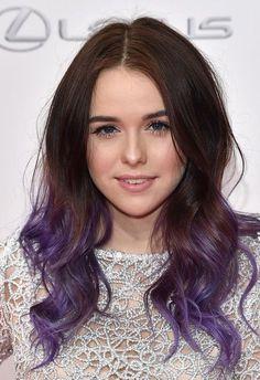 Ashy purple ombre hair