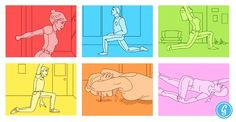 All Desk Workers Should Do Today Stuck at a desk all day? Here are six stretches to loosen the muscles made most stiff by sitting.Stuck at a desk all day? Here are six stretches to loosen the muscles made most stiff by sitting. Fitness Nutrition, Fitness Tips, Fitness Motivation, Work Motivation, Workplace Wellness, Employee Wellness, I Work Out, Get In Shape, Excercise