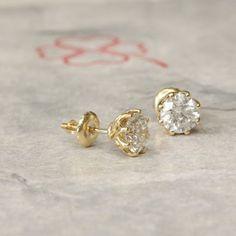 #jewelry #earrings #studearrings #diamondearrings #bridalearrings #weddingearrings #fineearrings #2caratsdiamonds #genuinediamonds #6prongsearrings #solitaireearrings #diamondstuds #bridesmaidearrings #14kyellowgold #birthstonediamond #pushbackstud Bridesmaid Earrings, Wedding Earrings, Wedding Jewelry, Solitaire Earrings, Diamond Earrings, My Engagement Ring, 2 Carat, Diamond Studs, Etsy Jewelry