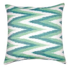 Spring greens pillow