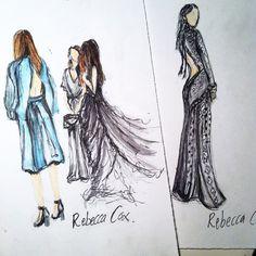 My fashion illustration. Models backstage at fashion week.  #models #fashion #nyfw #illustration #designs #Valentino #designer #runway